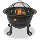 Oil Rubbed Bronze Outdoor Firebowl w/ Lattice Design