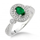 Diamond & Emerald Ring