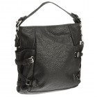 Yale Pebbled Tote in Black