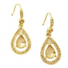 Carolee Topaz Crystal Teardrop Earrings