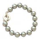 Charcoal 10mm Pearl Bracelet