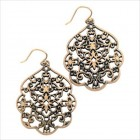 Thai Butterfly Earrings in Antiqued Gold