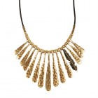 Fan Feather Leather Cord Necklace