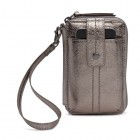 The SAK Leather Smartphone Wristlet in Pyrite Metallic