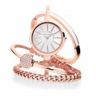 Women's Interchangeable Rose Gold-Tone Bangle Bracelet Watch Set