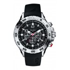 Men's NST Stainless Steel and Black Resin Watch