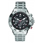 Men's Black Dial and Silver Bracelet Chronograph Watch
