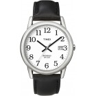 Men's Easy Reader Black Leather Strap Watch