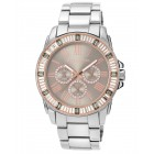 Women's Swarovski Accented Multi-Function Silver-Tone Watch
