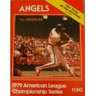 1979 ALCS game program (Baltimore Orioles over California Angels)