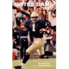1995 Notre Dame college football pocket schedule (Derrick Mayes)