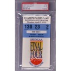 1993 NCAA Final Four Championship ticket PSA 6 (UNC 77 Michigan Fab Five 71)