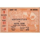 1946 Notre Dame (National Champions) vs Northwestern college football ticket stub