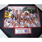1999 US Women's World Cup Soccer Team autographed People cover framed #36/299 (Brandi Chastain Julie Foudy Mia Hamm Kristine Lilly Christie Rampone)