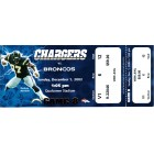 2002 San Diego Chargers vs Denver Broncos full unused ticket (LaDainian Tomlinson career game)
