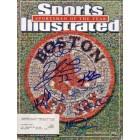 2004 Boston Red Sox World Series Champions autographed Sports Illustrated cover Johnny Damon Curt Schilling Kevin Youkilis