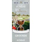 2005 Presidents Cup Sunday golf ticket