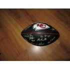 2013 Kansas City Chiefs team autographed logo football (Eric Berry Justin Houston Derrick Johnson)