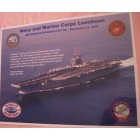 2007 Holiday Bowl USS Ronald Reagan Navy & Marine Corps lunch placemat