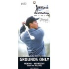 2000 Williams World Challenge ticket (Tiger Woods)