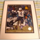 Adam Vinatieri autographed New England Patriots 8x10 photo matted & framed