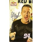 AJ Allmendinger autographed Red Bull Racing photo card