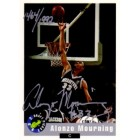 Alonzo Mourning certified autograph Georgetown 1992 Classic card #1464/1992