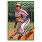 Andres Galarraga autographed Montreal Expos 1988 Topps card