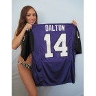 Andy Dalton TCU Horned Frogs purple authentic Nike stitched jersey NEW