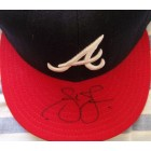 Andruw Jones autographed Atlanta Braves game model cap
