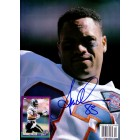 Anthony Miller autographed Denver Broncos Beckett Football back cover photo