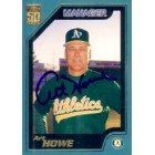 Art Howe autographed Oakland A's 2001 Topps card