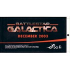Battlestar Galactica miniseries 2003 promo sticker