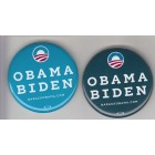 Barack Obama Joe Biden set of 2 2012 campaign buttons or pins