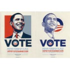 Barack Obama 2008 Nevada campaign set of 2 decals