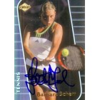 Barbara Schett autographed 2000 Collector's Edge tennis card