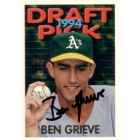 Ben Grieve autographed Oakland A's 1995 Topps Rookie Card