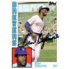 Ben Oglivie autographed Milwaukee Brewers 1984 Topps card