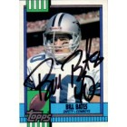 Bill Bates autographed Dallas Cowboys 1990 Topps card