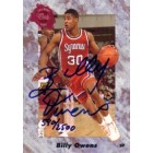Billy Owens certified autograph Syracuse Orangemen 1991 Classic card #590/2500