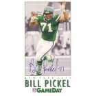 Bill Pickel autographed New York Jets 1992 GameDay promo card