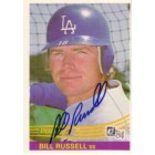 Bill Russell autographed Los Angeles Dodgers 1984 Donruss card