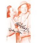 Bob Hope & Dolores Hope autographed sepia photo
