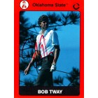 Bob Tway autographed Oklahoma State 1991 Collegiate Collection golf card