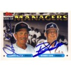 Bobby Cox & Johnny Oates autographed 1993 Topps Managers card