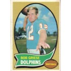Bob Griese Dolphins 1970 Topps card #10 Ex to ExMt
