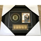 Bobby Orr autographed Boston Bruins puck matted & framed (Great North Road)