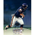 Bobby Engram certified autograph Chicago Bears 1997 Leaf 8x10 photo card