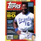 Bo Jackson Kansas City Royals 1990 Topps Magazine MINT