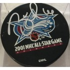 Brett Hull autographed 2001 NHL All-Star Game puck